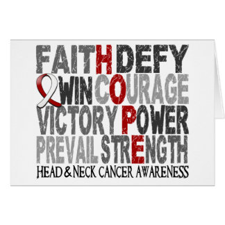 Hope Word Collage Head Neck Cancer Card