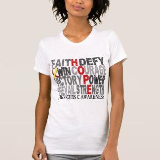 Hope Word Collage Hepatitis C T-Shirt