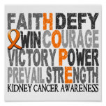 Hope Word Collage Kidney Cancer Poster