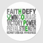 Hope Word Collage Kidney Disease Round Sticker