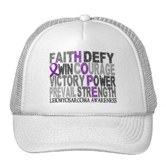 Hope Word Collage Leiomyosarcoma Mesh Hats