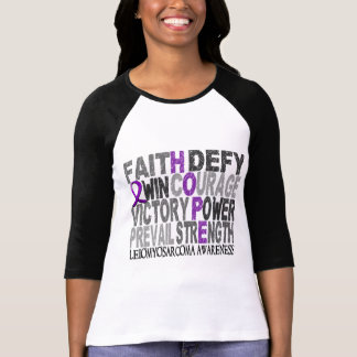 Hope Word Collage Leiomyosarcoma Shirts