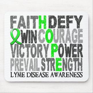 Hope Word Collage Lyme Disease Mousepads