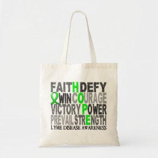 Hope Word Collage Lyme Disease Budget Tote Bag