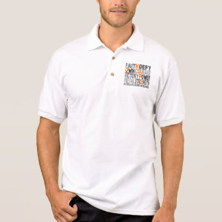 Hope Word Collage Multiple Sclerosis Polo Shirt
