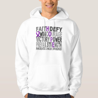 Hope Word Collage Pancreatic Cancer Hoodie