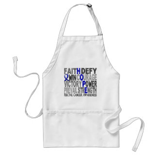 Hope Word Collage Rectal Cancer Standard Apron