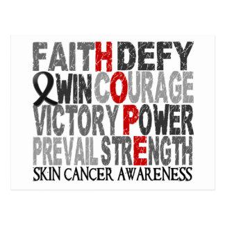 Hope Word Collage Skin Cancer Postcard