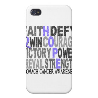 Hope Word Collage Stomach Cancer Cover For iPhone 4