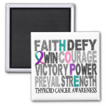 Hope Word Collage Thyroid Cancer Square Magnet