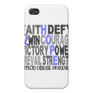 Hope Word Collage Thyroid Disease iPhone 4 Cases