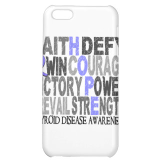 Hope Word Collage Thyroid Disease Case For iPhone 5C
