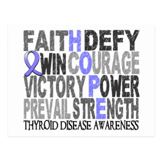 Hope Word Collage Thyroid Disease Postcard