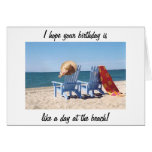HOPE YOUR BIRTHDAY IS LIKE A DAY AT THE BEACH GREETING CARDS