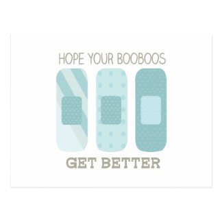 Hope Your Boo Boos Get Better Postcard