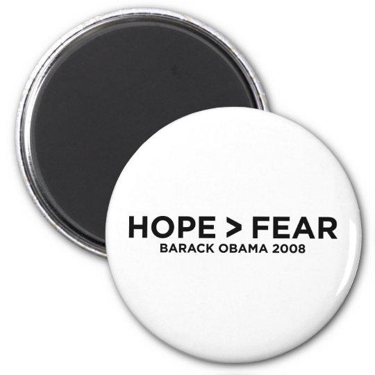 hopefear 6 cm round magnet