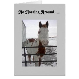 HOPEFULLY U CAN HORSE AROUND-40th Card
