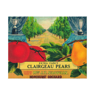 Hopehurst Pear Crate LabelPayette, ID Canvas Print