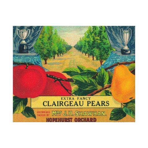 Hopehurst Pear Crate LabelPayette, ID Canvas Print