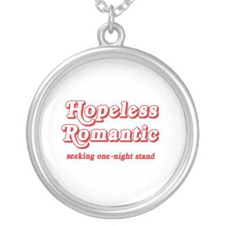 Hopeless Romantic Round Pendant Necklace