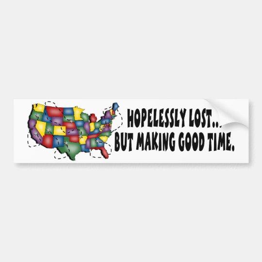 Hopelessly Lost... Bumper Sticker