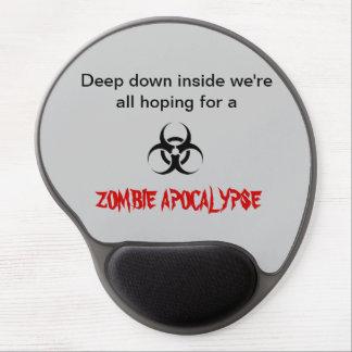 """Hopes for a Zombie Apocalypse"" Gel Mousepad"