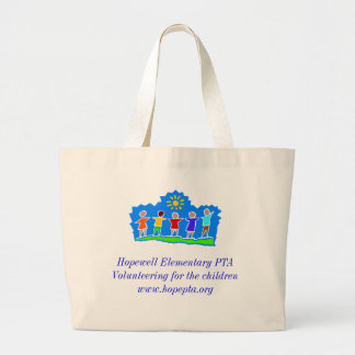 Hopewell Elementary PTA Jumbo Tote Tote Bag