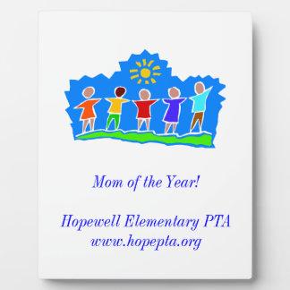 Hopewell Elementary PTA Mom Plaque