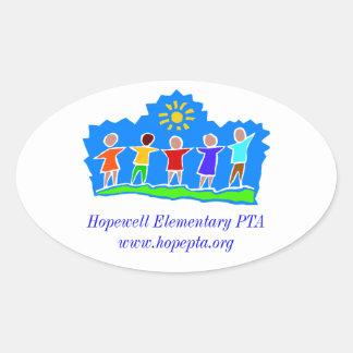 Hopewell Elementary PTA Oval Sticker