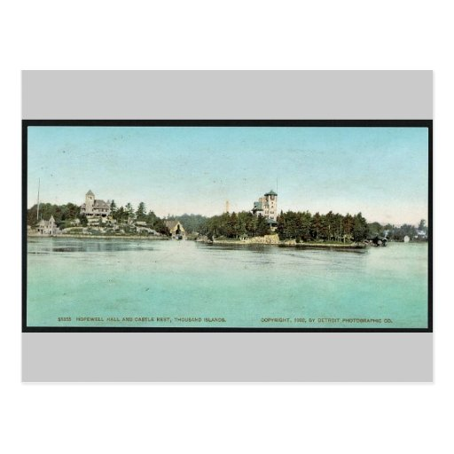 Hopewell Hall and Castle Rest, Thousand Islands ra Post Card