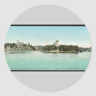 Hopewell Hall and Castle Rest, Thousand Islands ra Round Sticker