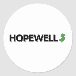 Hopewell, New Jersey Round Stickers