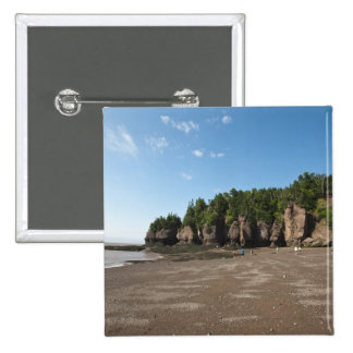Hopewell Rocks and The Ocean Tidal Exploration 15 Cm Square Badge