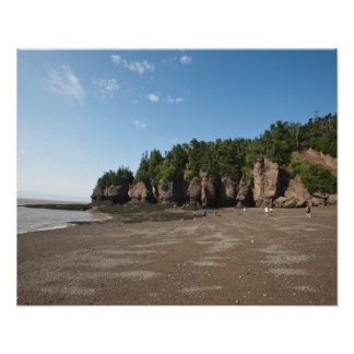 Hopewell Rocks and The Ocean Tidal Exploration Poster