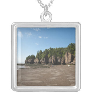 Hopewell Rocks and The Ocean Tidal Exploration Silver Plated Necklace