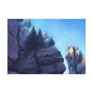 Hopewell Rocks Cavas Print