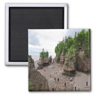 Hopewell Rocks Low Tide Canada Magnet