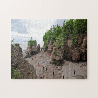 Hopewell Rocks Low Tide Canada Puzzle