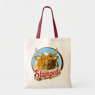 Hopewell Valley Stampede logo tote bag
