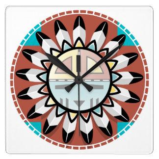 Hopi Kachina Mask Clock