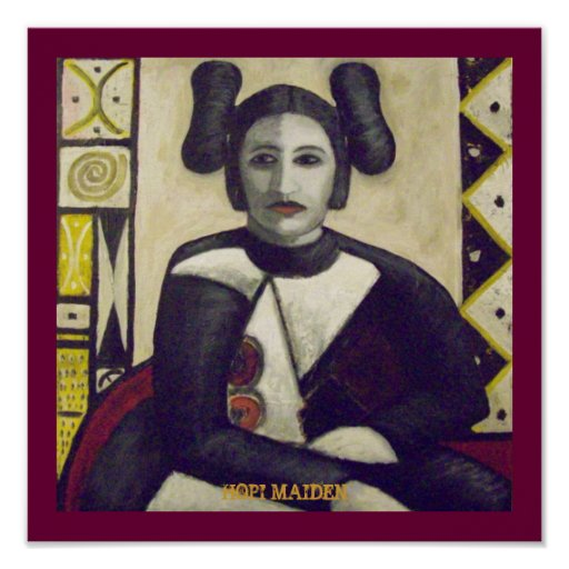 Hopi Maiden 1900 Posters