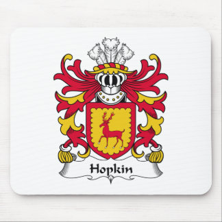 Hopkin Family Crest Mouse Pads