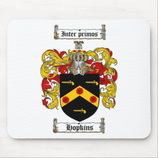 HOPKINS FAMILY CREST -  HOPKINS COAT OF ARMS MOUSE MAT