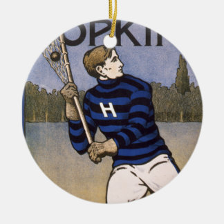 Hopkins Lacrosse 1902 - Bristow Adams Christmas Ornament
