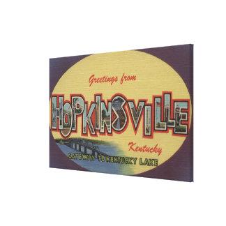 Hopkinsville, Kentucky - Large Letter Scenes Canvas Prints