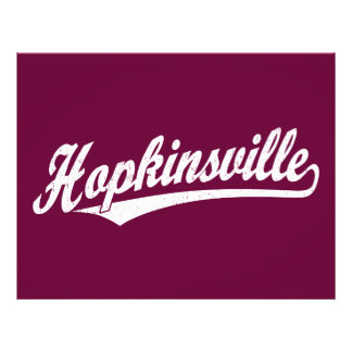 Hopkinsville script logo in white distressed full color flyer