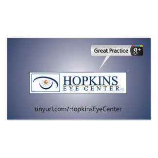 Hopkis Eye Center Business Card Template