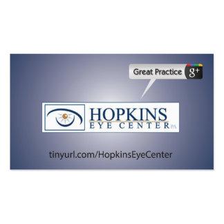 Hopkis Eye Center Business Card Template