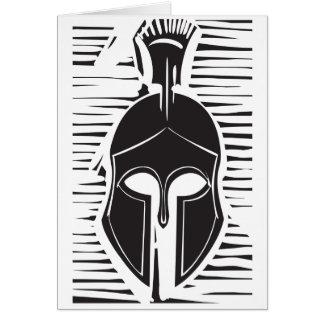Hoplite Greek Helmet Greeting Card