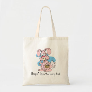 Hoppin' Down the Bunny Trail Tote Bags